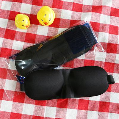 透氣遮光3D無痕立體眼罩~黑色