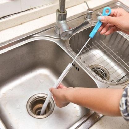 廚房可彎長柄排水管刷