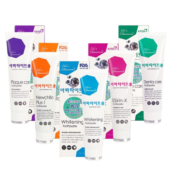 韓國APATITE鑽石系列牙膏130g預防口臭 去除齒垢 舒緩牙酸 牙齦護理 亮白~RAT