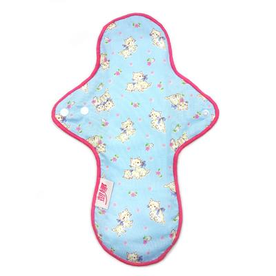 【凱娜】布衛生棉(防水)28公分-日式粉藍貓