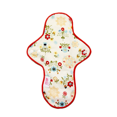 【凱娜】布衛生棉(防水)28公分-元氣小紅花