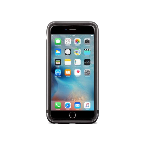 〈moshi〉 iGlaze Luxe for iPhone 6 6S 雙料金屬邊框 灰