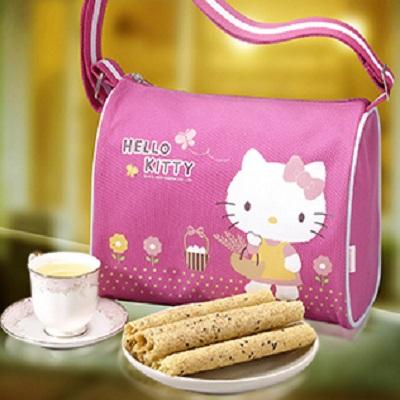 Hello Kitty 芝麻蛋捲禮盒-自然風