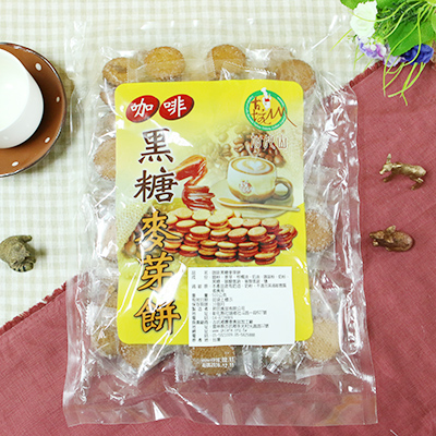 【古坑鄉農會】 咖啡黑糖麥芽餅(500g)
