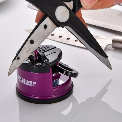 【KLEVA SHARP】 吸盤式安全磨刀器-紫色