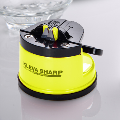 【KLEVA SHARP】  吸盤式安全磨刀器-黃色