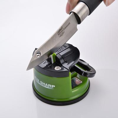 【KLEVA SHARP】 吸盤式安全磨刀器-綠色