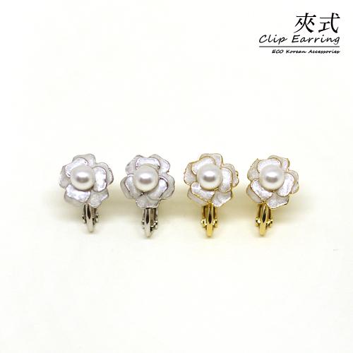 ^( ^)^( ^)ECO安珂.古典玫瑰花園夾式耳環^(螺旋夾 2色^)~2~1768~