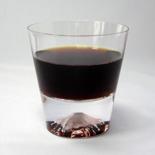 日本代購【EDO GLASS】富士山威士忌杯
