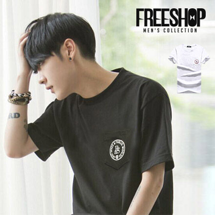 FreeShop~QMD60236~日韓系DREAMER圖標雙面印花圓領棉質短T短袖上衣潮