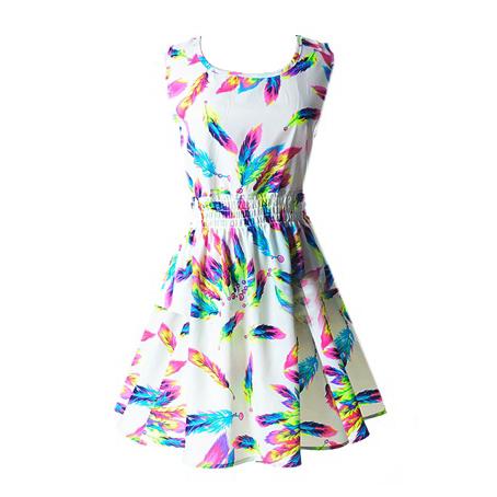 小清新碎花雪紡洋裝 多色民族風 縮腰洋裝 多款縮腰圖騰洋裝