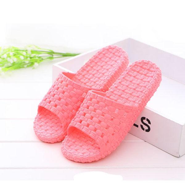PSMall家居浴室防滑漏水拖鞋情侶男女厚底塑膠 洗澡涼拖鞋~J2245~