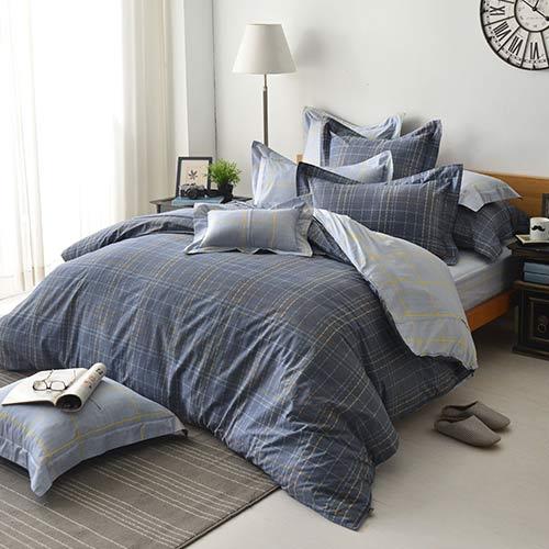京站~義大利LaBelle~~簡約格調~雙人四件式防蹣抗菌舖棉兩用被床包組