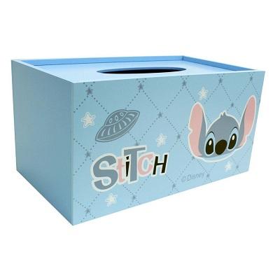 【迪士尼】史迪奇木製面紙盒