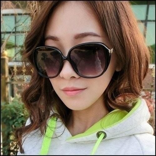 潮流大框女士太陽眼鏡復古圓框瘦臉墨鏡明星同款太陽鏡~24112~