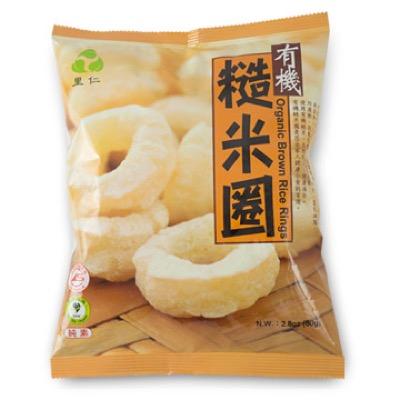 里仁 有機糙米圈 80公克/包