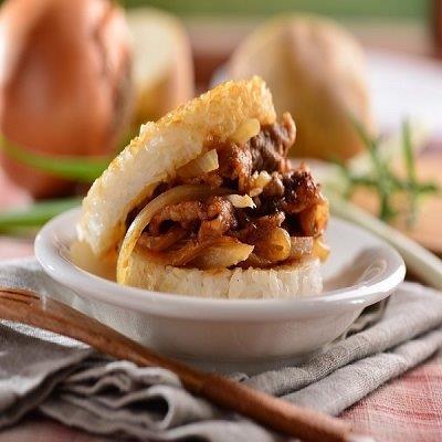 【喜生】沙茶牛肉米漢堡