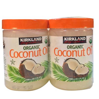 KIRKLAND 有機冷壓初榨椰子油1200g2入