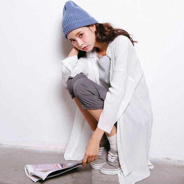寬鬆顯瘦防曬薄雪紡衫  衣櫃控~WardrobE  YN~A78