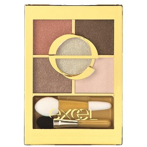 日本代購【EXCEL】5色眼影盤 焦糖棕 FS01