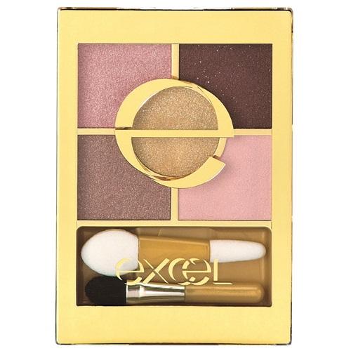 日本代購【EXCEL】5色眼影盤  甜蜜粉紅 FS02