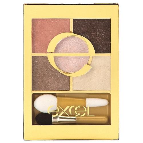 日本代購【EXCEL】5色眼影盤 蜜桃棕 FS04