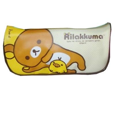 【拉拉熊】Rilakkuma/咖啡色/船型筆袋