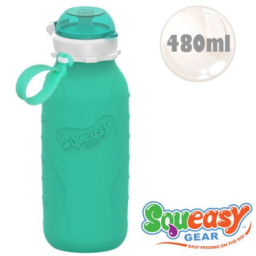 ~佳兒園婦幼 館~Squeasy QQ隨身瓶~480ml 水藍