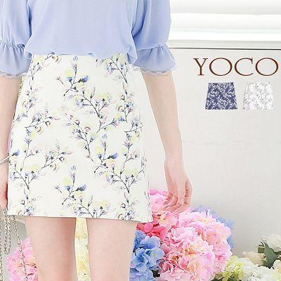花朵圖案高腰窄裙~XS.S.M.L^(6007323^)