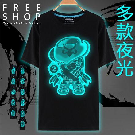 Free Shop~QFSJO69~英雄款LOL翻玩聯盟Q版趣味文字夜光系圓領短T短袖上衣