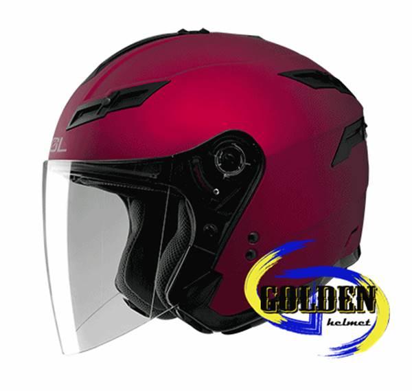 SOL SO1 素色 消光紅 3 4罩安全帽 ^(可加購下巴變全罩^)