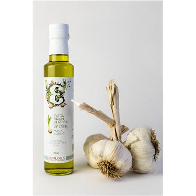 美味克里特第一道冷壓特級初榨橄欖油^(蒜香風味^)250ml 瓶