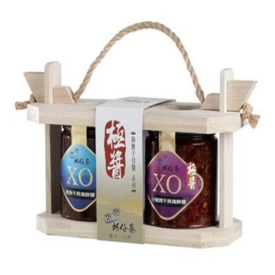 【梓官區漁會】XO醬禮盒(魷魚干貝+小蝦寶干貝)(250g*各1入)