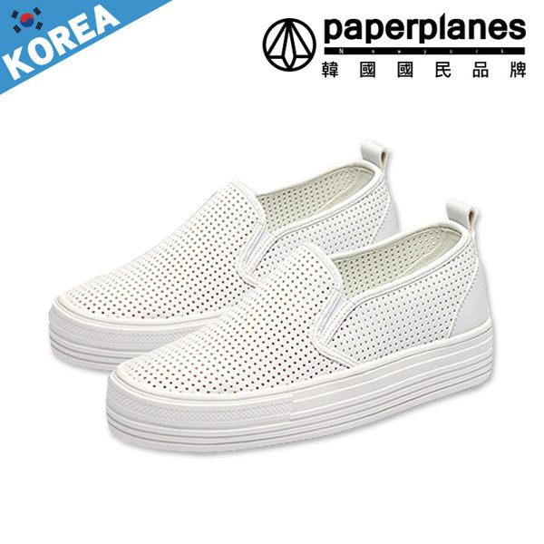 懶人鞋 正韓製 網狀  透氣 洞洞 輕盈厚底 鞋 ~B7900146~2色現 預 韓國品牌