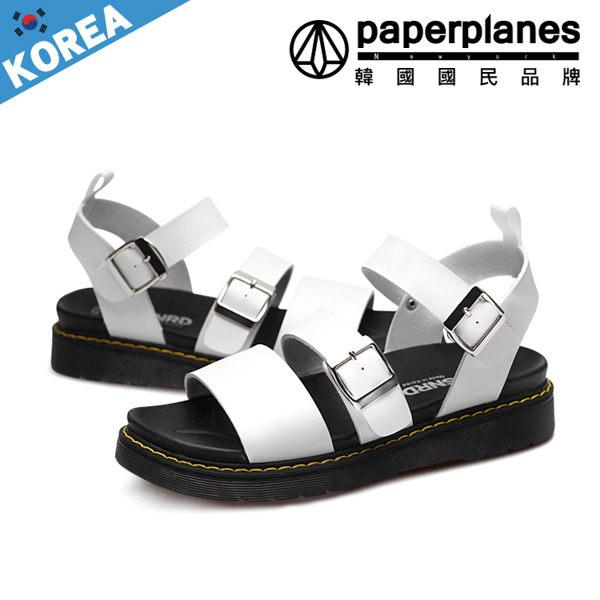 沙灘鞋 正韓製 立體撞色縫線 雙金屬扣環 二用 男涼鞋~B7900233~4色現 預 韓國