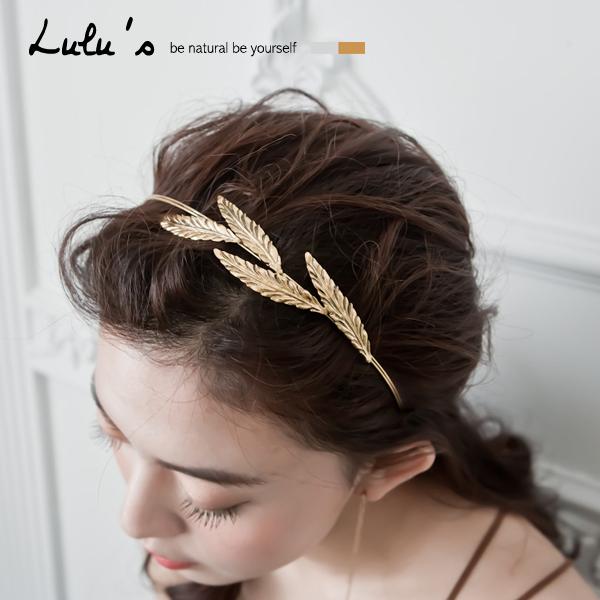 LULUS~N韓製~葉子雙圈髮箍~2色 現 預~08070164~