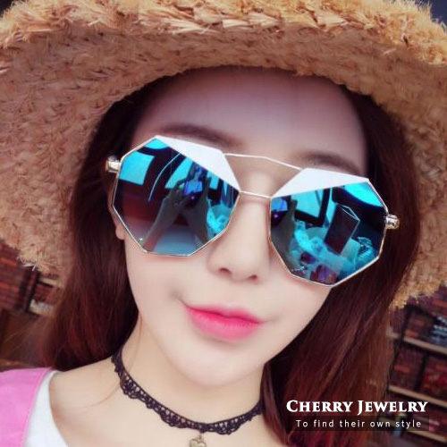 多邊形大框 太陽眼鏡 墨鏡 ~櫻桃飾品~~10368~