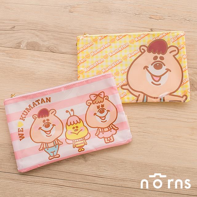 NORNS~WC熊扁型塑膠筆袋~化妝包 存摺收納包 kumatan kuma糖 隨身包