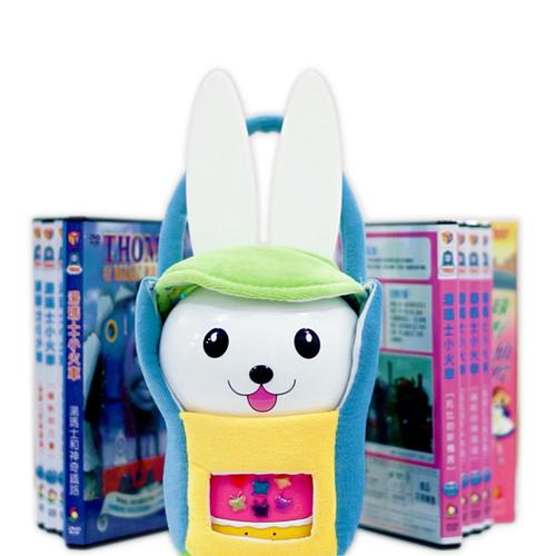芽比兔Yep2幼兒啟蒙教育故事機 ^(全套餐贈品內容物 :可愛提袋 防摔包、7片湯瑪士DV