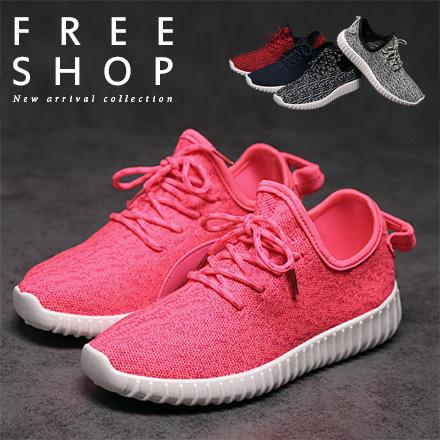 Free Shop~QFSSG512~情侶款 輕量化清爽休閒慢跑鞋 舒適鞋底厚底椰子鞋懶人