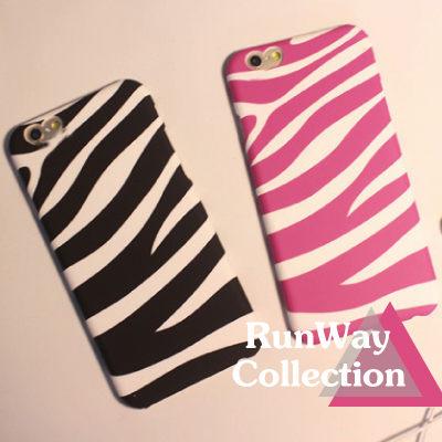 情侶簡約iPhone6 plus磨砂手機殼 斑馬紋蘋果6保護套5s外殼