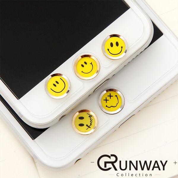 蘋果 iPhone 6s Plus 韓國笑臉 指紋按鍵貼 手機平板系列 HOME鍵貼 可愛