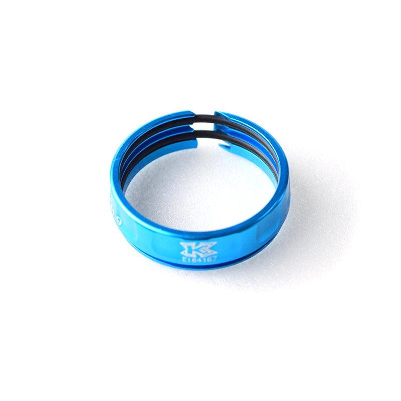 KCNC  SC14 鋁合金內鎖式34.9座管束 轉31.6 輕量化 改裝 ^(藍^)