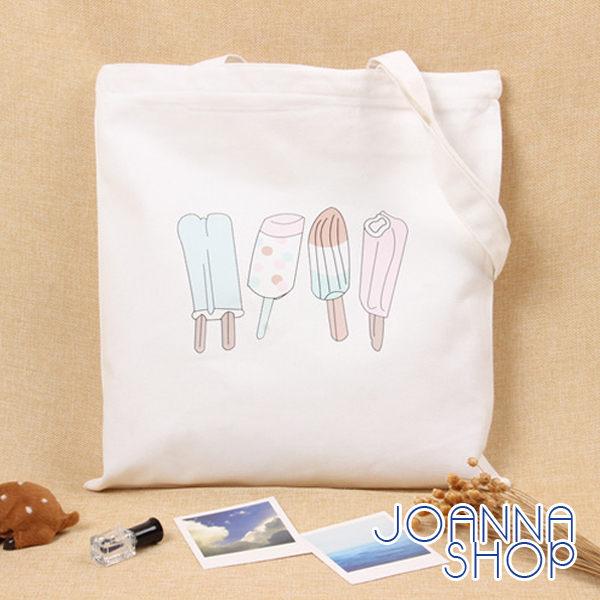 肩背包 夏天愛吃冰帆布側背包~Joanna Shop