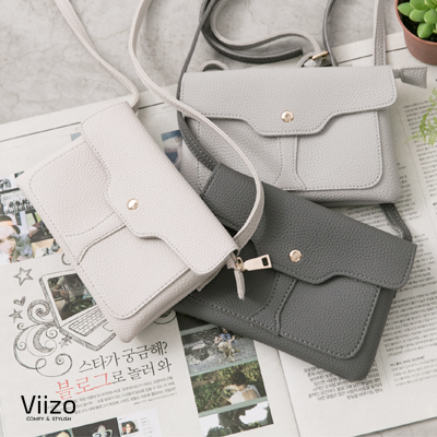 ~Viizo~簡約荔枝紋信封 手機斜背包~3色