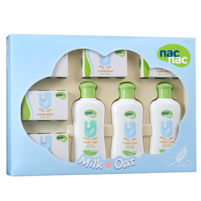 【nac nac】牛奶燕麥潔膚禮盒/8件組