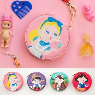 搞怪童話故事系列白雪公主愛麗絲小木偶蒙娜麗莎 零錢包~GDS~50018