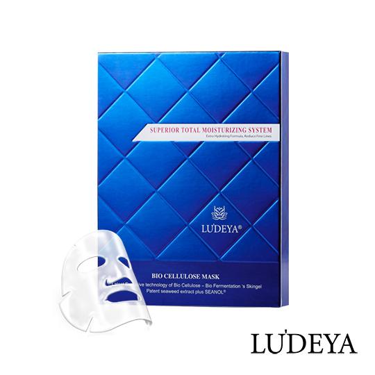 LUDEYA 藍鑽玻尿酸微臻生物纖維面膜-3片/盒
