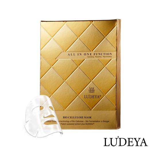 LUDEYA 黃金胎盤全效微臻生物纖維面膜-3片/盒