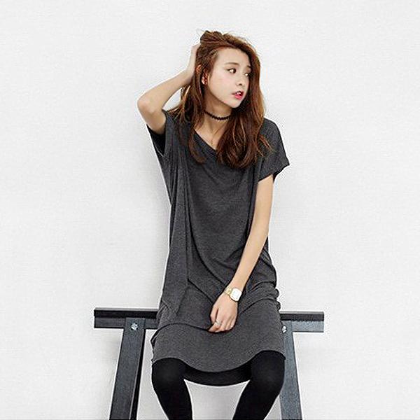 韓國同款不規則袖長長版T~Shirt  衣櫃控~WardrobE  YS727